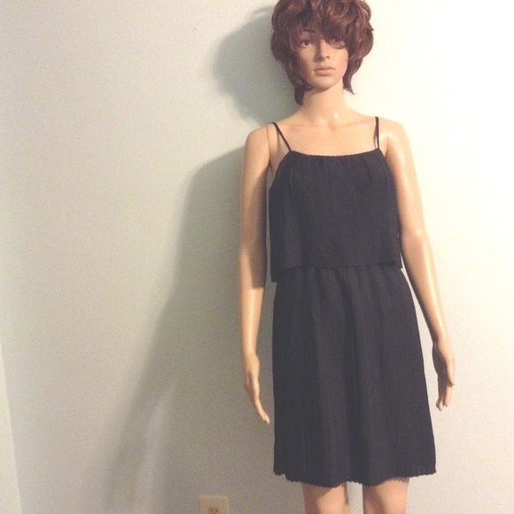 Women s XS Pleated Short Black Dress By Merona 591fb078eb